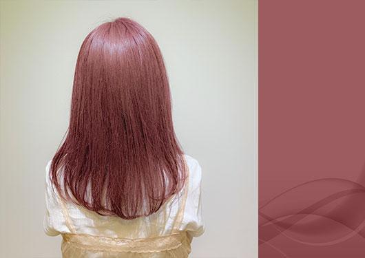 髪質改善カラー ピンクバイオレット