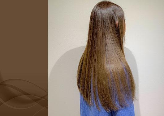 髪質改善ストレート カラー