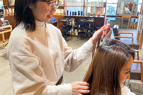 毛髪理論に基づき髪、頭皮のカウンセリングをいたします