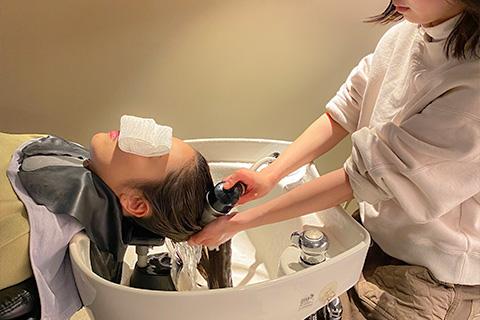 マイクロバブルによる頭皮毛髪の洗浄